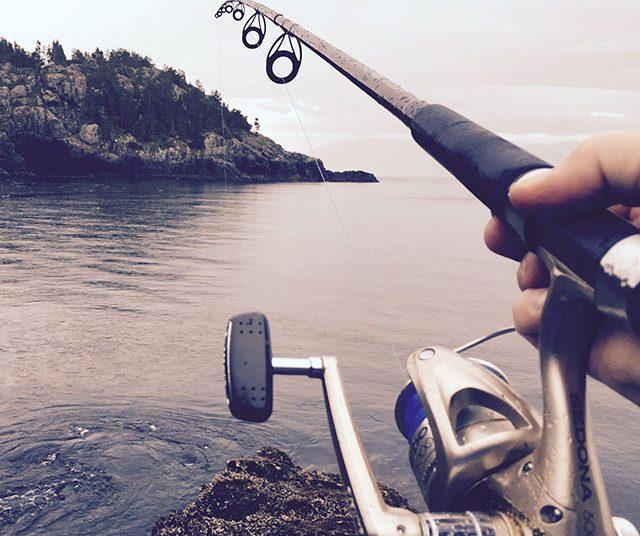 lake fishing rod